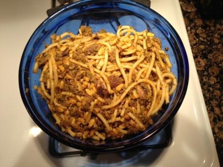 My recreation of pasta con le sarde